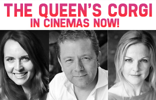 Debra Stephenson Jon Culshaw and Sarah Hadland In The Queens Corgi