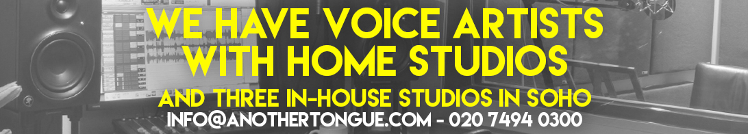 Voice Artists With Home Studios