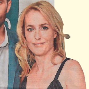 Gillian Anderson in The Metro