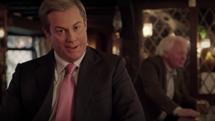 Kevin Bishop plays Nigel Farage
