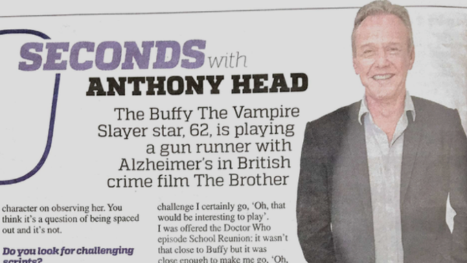Anthony Head in the Metro!