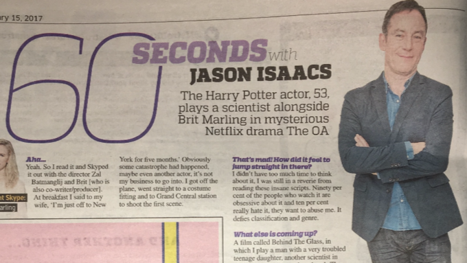 60 seconds with Jason Isaacs