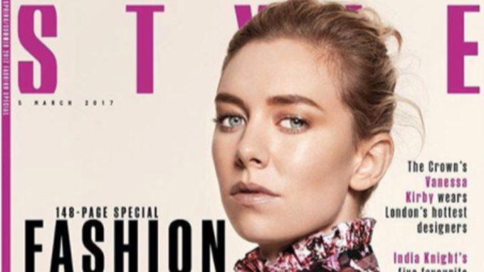 Vanessa Kirby on the cover of the Sunday Times Style