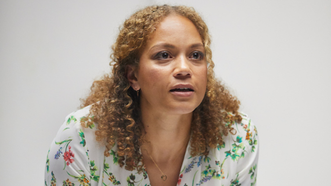 ANGELA GRIFFIN STARS IN BUILDING THE WALL