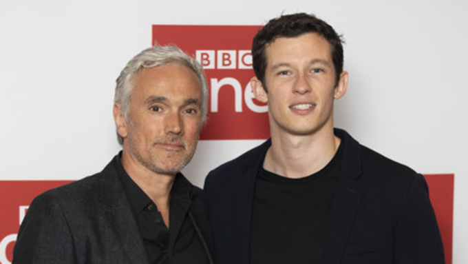 Callum Turner and Ben Miles in The Capture