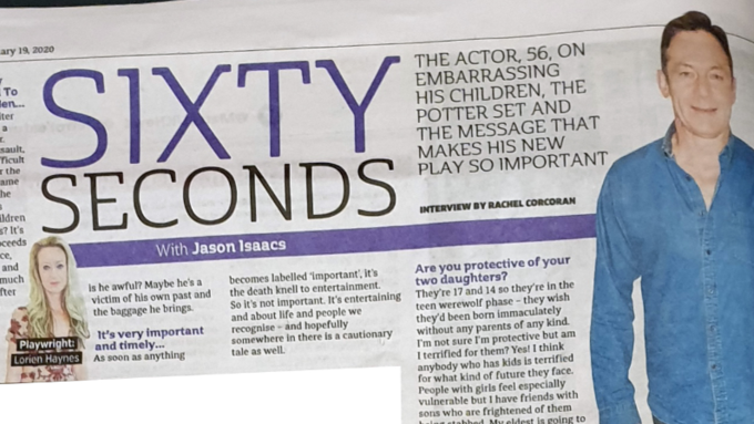 Jason Isaacs In The Metro's 60 Second Interview