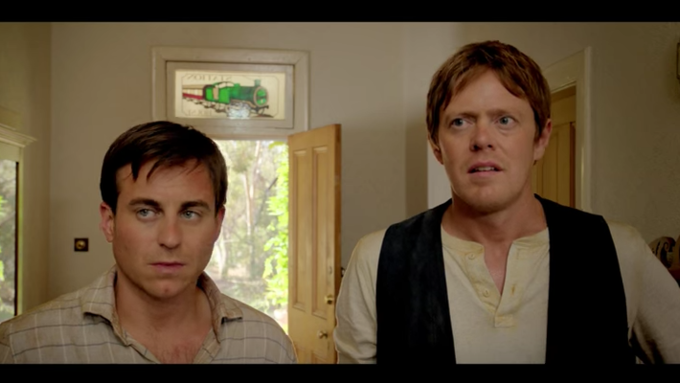 Kris Marshall and Kevin Bishop in A Few Less Men