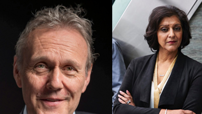 Meera Syal and Anthony Head in The Split!