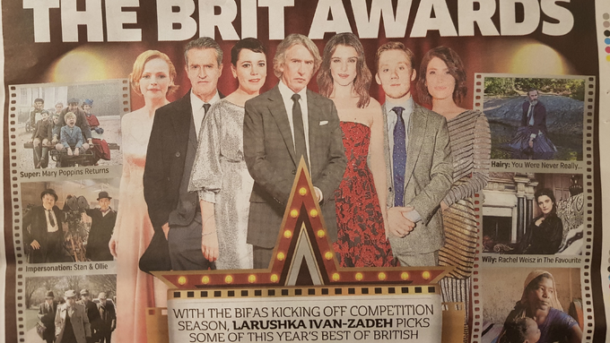 Rupert Everett and Joe Cole up for BEST ACTOR at the Brit Awards
