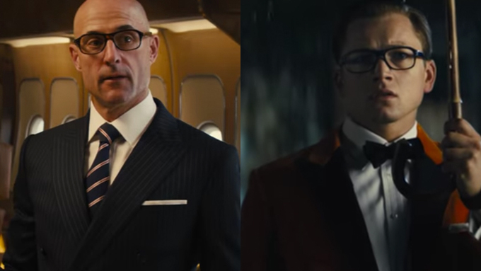 Taron Egerton and Mark Strong in Kingsman: The Golden Circle