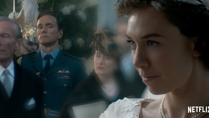 Vanessa Kirby and Ben Miles in The Crown